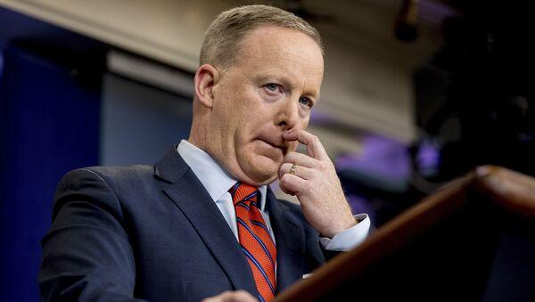 Rzecznik prasowy Białego Domu Sean Spicer - Sputnik Polska