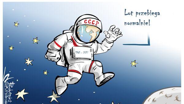 56. rocznica pierwszego lotu człowieka w kosmos - Sputnik Polska