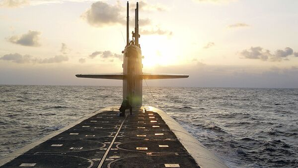 Amerykański okręt podwodny typu Ohio przeznaczony do przenoszenia pocisków balistycznych - Sputnik Polska