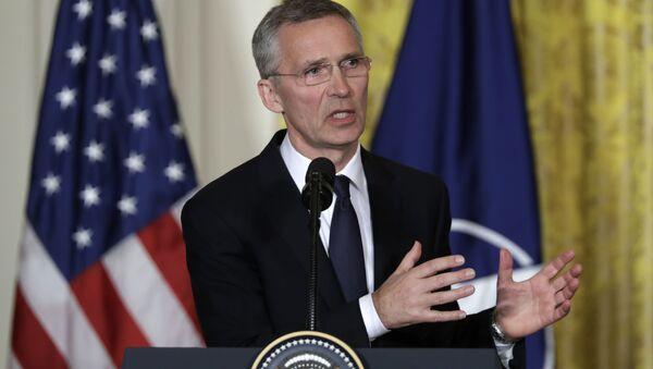 Sekretarz generalny NATO Jens Stoltenberg w Waszyngtonie - Sputnik Polska