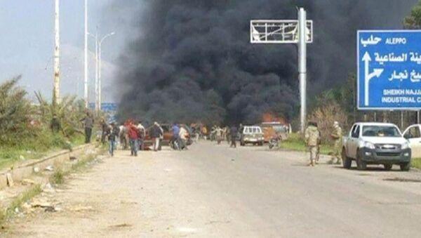 Do eksplozji doszło na zachód od miasta Aleppo - Sputnik Polska