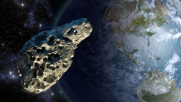 Asteroida na tle Ziemi - Sputnik Polska