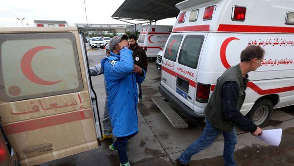 Karetki pogotowia przy szpitalu w Iraku. Zdjęcie archiwalne - Sputnik Polska