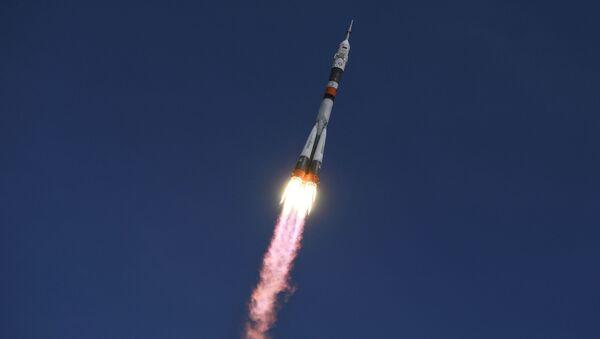 Rakieta Sojuz-FG startuje z kosmodromu Bajkonur - Sputnik Polska