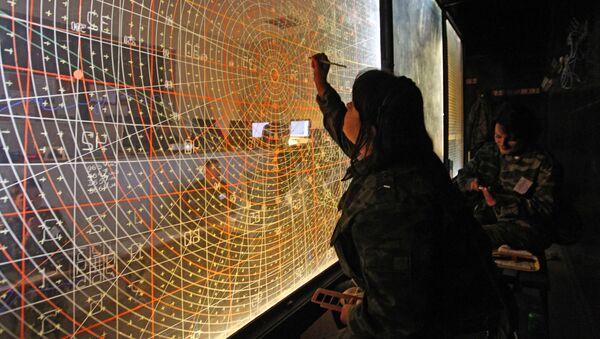 Punkt dowódczy zarządzania szkoleniami wojsk obrony przeciwlotniczej na poligonie Aszułuk w obwodzie astrachańskim - Sputnik Polska