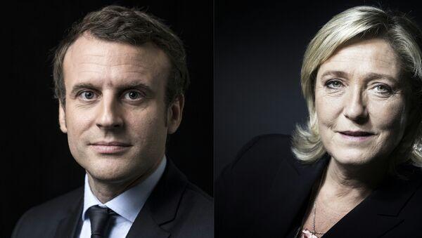 Marine Le Pen/ Emmanuel Macron - Sputnik Polska