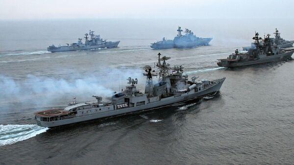 Ćwiczenia na Morzu Japońskim - Sputnik Polska