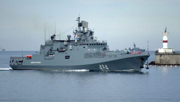 """Fregata rosyjskiej Floty Czarnomorskiej """"Admirał Grigorowicz""""  - Sputnik Polska"""