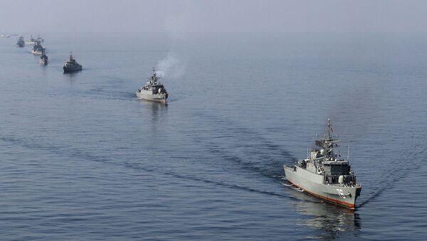 Okręty irańskiej  marynarki wojennej biorą udział w manewrach Velayat-90 - Sputnik Polska