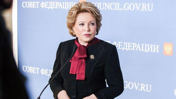 Przewodnicząca Rady Federacji Walentyna Matwijenko - Sputnik Polska