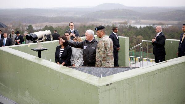 Mike Pence w Korei Południowej - Sputnik Polska
