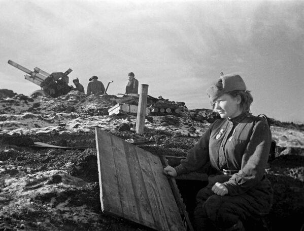 Uczestniczka operacji wyzwolenia Odessy w 1944 roku. - Sputnik Polska