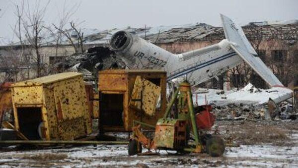 Zniszczone lotnisko w Doniecku - Sputnik Polska