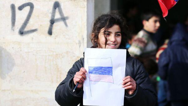 """Są to oznaki """"wdzięczności narodu syryjskiego narodowi rosyjskiemu za pomoc"""". - Sputnik Polska"""