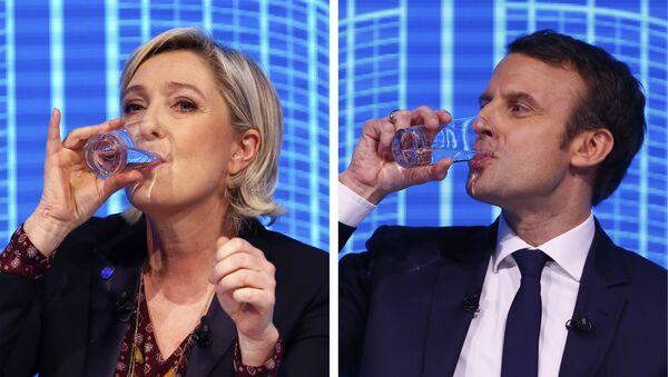 Marine Le Pen i Emmanuel Macron - Sputnik Polska