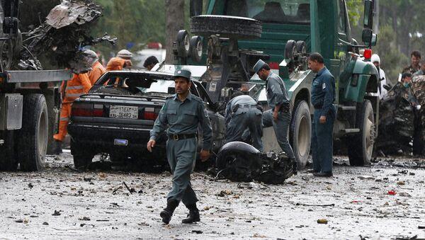 Policja na miejscu wybuchu w Kabulu - Sputnik Polska