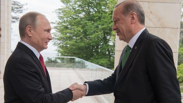Spotkanie Władimira Putina i Recepa Tayyipa Erdogana - Sputnik Polska