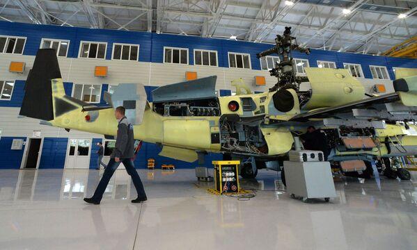"""Rosyjskie śmigłowce Ka-52 """"Aligator"""" są składane w montowniach Zakładu Lotniczego """"Progress"""", w miejscowości Arseniew, w Kraju Nadmorskim. - Sputnik Polska"""