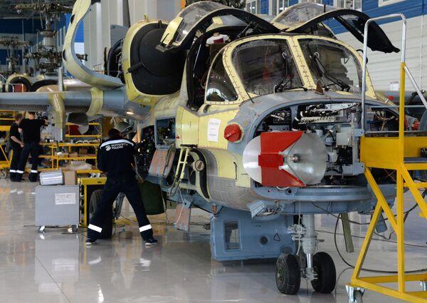 Ka-52 jest zmodyfikowaną wersją śmigłowca szturmowego Ka-50 (Czarny Rekin). - Sputnik Polska