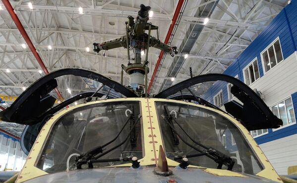 """Produkcja śmigłowców Ka-52 Aligator w Zakładzie Lotniczym """"Progress"""" w Kraju Nadmorskim. - Sputnik Polska"""