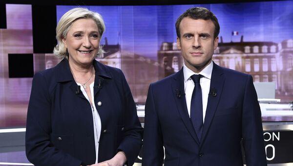 Kandydaci na prezydenta Francji: Marine Le Pen i Emmanuel Macron - Sputnik Polska