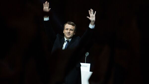 Lider ruchu En Marche! Emmanuel Macron, który odniósł zwycięstwo w wyborach prezydenckich we Francji - Sputnik Polska