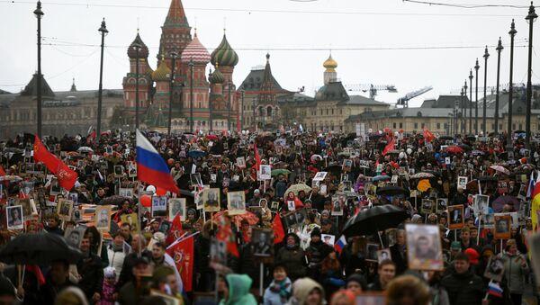 """Akcja """"Nieśmiertelny Pułk w Moskwie - Sputnik Polska"""