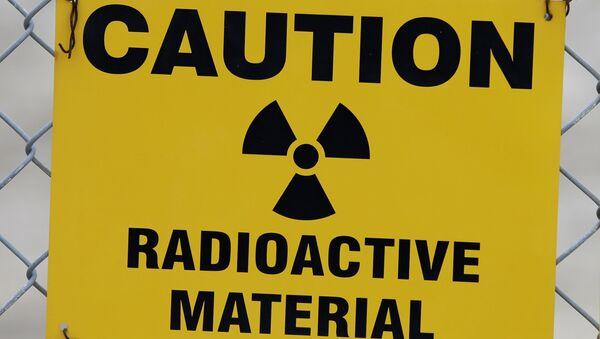 Znak ostrzegający przed materiałami promieniotwórczymi - Sputnik Polska