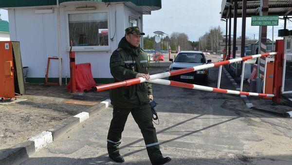 Pogranicznik na granicy ukraińsko-białoruskiej - Sputnik Polska