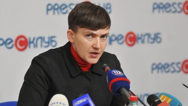 Konferencja prasowa Nadiji Sawczenko. Zdjęcie archiwalne - Sputnik Polska