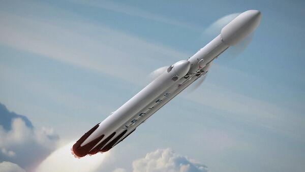 Wizualizacja rakiety Falcon Heavy - Sputnik Polska