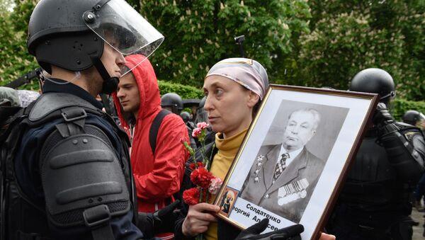 Uczestniczka akcji Nieśmiertelny Pułk w Kijowie - Sputnik Polska