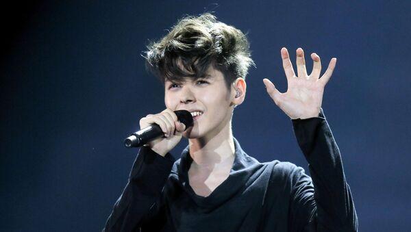 Bułgarski piosenkarz Kristian Kostow na konkursie Eurowizji w Kijowie - Sputnik Polska