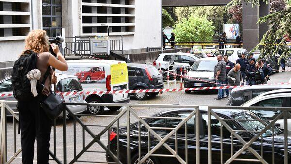 Policja na miejscu wybuchu w Rzymie - Sputnik Polska