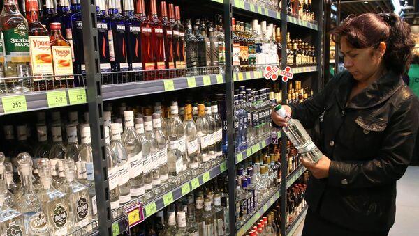 Dział alkoholi w sklepie w Kaliningradzie - Sputnik Polska