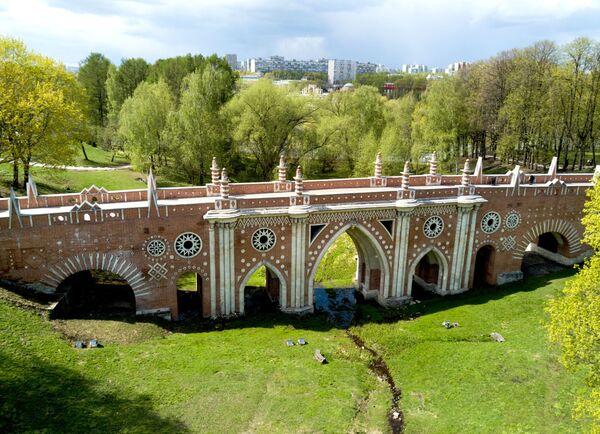 Wielki kamienny most ponad jarem to największy z zachowanych mostów XVIII wieku. - Sputnik Polska