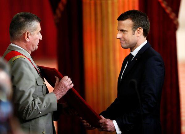 Zaprzysiężenie Emmanuela Macrona na ósmego prezydenta V Republiki. - Sputnik Polska