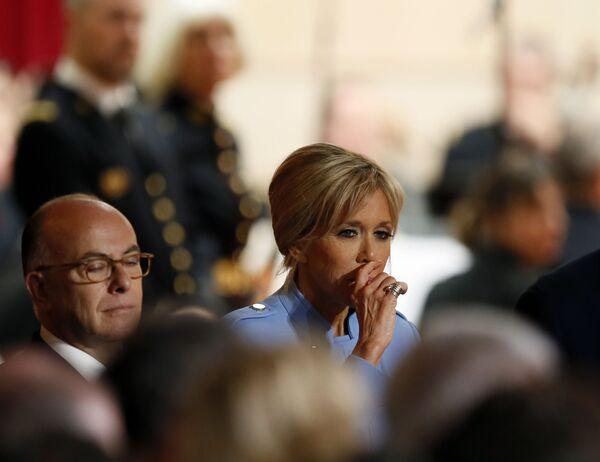Małżonka prezydenta elekta Francji Emmanuela Macrona podczas ceremonii zaprzysiężenia. - Sputnik Polska