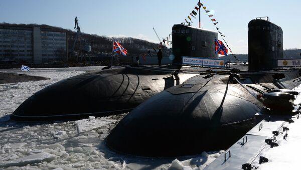 """Spalinowy okręt podwodny """"Komsomolsk nad Amurem"""" projektu 877 """"Pałtus"""" - Sputnik Polska"""