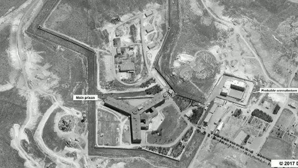 Widok na kompleks więzienny niedaleko Damaszku, Syria - Sputnik Polska