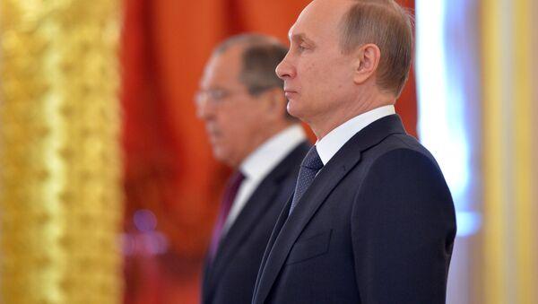 Władimir Putin, Sergiej Ławrow - Sputnik Polska
