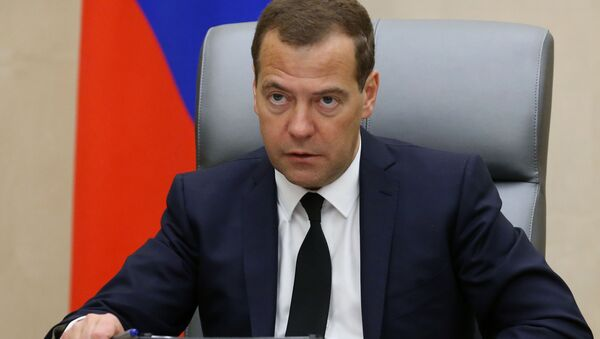Szef rosyjskiego rządu Dmitrij Miedwiediew - Sputnik Polska