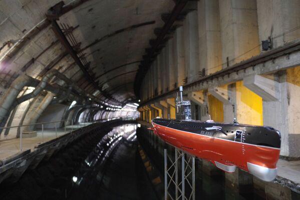 Tajna baza okrętów podwodnych w Bałakławie na Krymie. Wybudowana w 1961 roku, porzucona w 1993 roku. Obecnie znajduje się tam muzeum. - Sputnik Polska