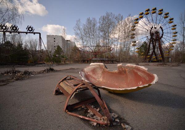 Ukraińskie miasto Prypeć w Czarnobylskiej Strefie Wykluczenia. - Sputnik Polska