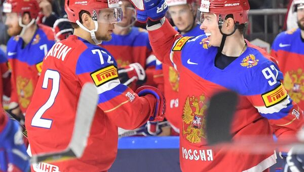 Reprezentacja Rosji podczas Mistrzostw Świata w hokeju 2017 - Sputnik Polska