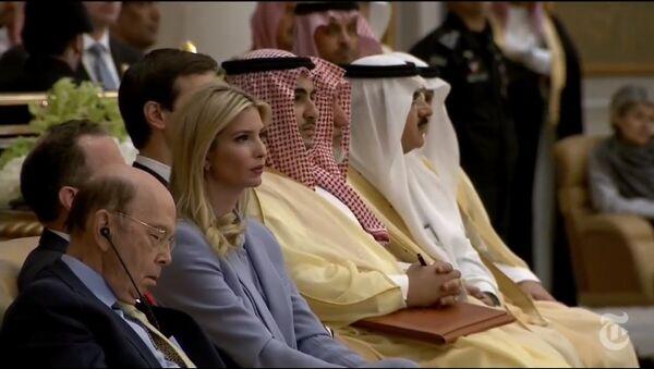 Sekretarz handlu USA zasnął podczas wystąpienia Trumpa w Arabii Saudyjskiej - Sputnik Polska