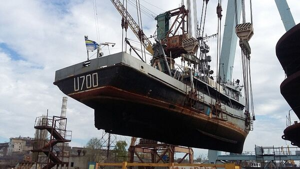 "Ukraiński okręt U700 ""Nietieszyn - Sputnik Polska"