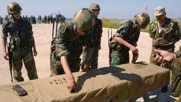 Wspólne ćwiczenia rosyjskiej i syryjskiej piechoty morskiej w Tartusie - Sputnik Polska