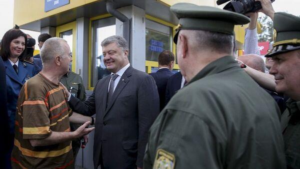 Petro Poroszenko podczas wizyty w obwodzie wołyńskim - Sputnik Polska