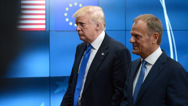 Donald Trump i Donald Tusk - Sputnik Polska